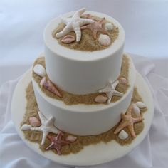 The Perfect Wedding Cake For Beach Themed Or Seaside Location