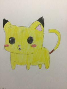 Jenson the Pikachu Kitty drawn by Emily Rowley