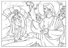 Jesus Bringing Lazarus Coloring Page Coloring Page Lazarus