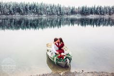 Winter Rowboat Engagement Session in Prince George British Columbia, by Northern Pixel Photography