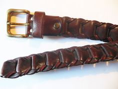 brown leather belt italy tito roni