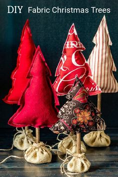 How to Make Stuffed Fabric Christmas Trees for Your Holiday Decor