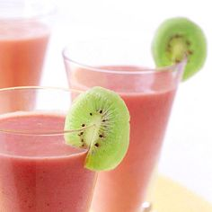 Strawberry-Banana Smoothies  This fruit combination pleases everyone and is a healthy pick-me-up anytime of day.