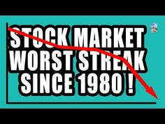 7 Charts of Recession as Stock Market Worst Decline Streak Since 1980! - YouTube