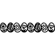Silhouette Design Store - View Design #8233: Easter eggs border