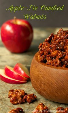 Apple-Pie Candied Walnuts