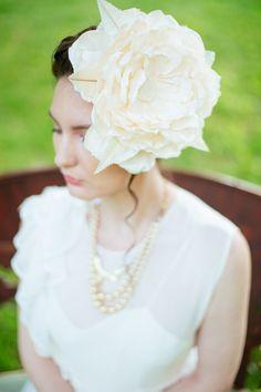 Big floral headpiece. Blair Nadeau Millinery. Photography: Magnolia Studios - magnoliastudios.ca
