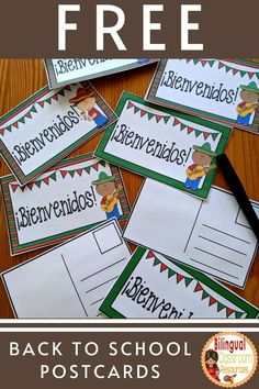 These FREE Back to School in Spanish area a must for your classroom. They will help welcome your new students back to school and help to begin a positive relationship! These Welcome Back to School Postcards-Postales para el regreso a clases are ideal for elementary school students. Your bilingual students will love them! Fun Classroom Activities, Graphing Activities, Back To School Activities, School Resources, Teacher Resources, Classroom Resources, Classroom Decor, Bilingual Classroom, Bilingual Education
