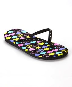 This Pink & Blue Hearts Flip-Flop by Chatties is perfect! #zulilyfinds
