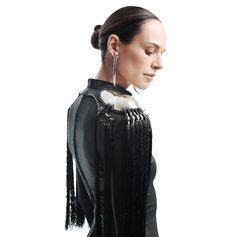 Gelareh-Women's Effusive Epaulette : Ceiba SF Custom Metal Work, Shoulder Armor, Leather Pieces, Stitching Leather, Leather Cord, Custom Jewelry, Metal Working, Shopping, Women
