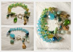 DIY High Tide Inspired Bracelet Tutorial from inspiration & realisation here. Top Photo: $1,600 High Tide Bracelet by Jes MaHarry in the Sundance Catalog here. Bottom Photos: DIY by inspiration & realisation. *For pages and pages of bracelet and cuff...