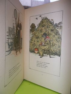 Rare Antique Illustrated Mother Goose Hardback Book, KATE GREENWAY, Beautiful Children's books by MaisonettedeMadness,