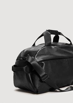 14f34f75035 Mango Pebbled Weekend Bag - Men