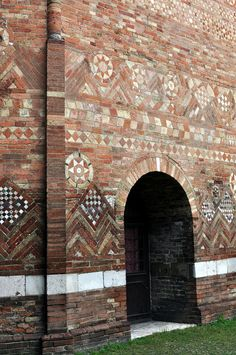 Bologna,  The ancient Santo Sepolcro, part of the basilica of Santo Stefano in Bologna, Italy.