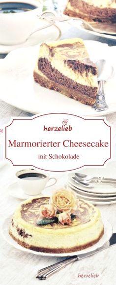 Cheesecake mit Schokolade - ein Rezept für einen Käsekuchen für alle, die sich nicht entscheiden können, ob sie einen normalen Cheesecake oder einen mit Schokolade möchten.