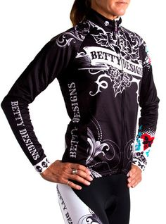 Tattoo Long Sleeve Cycling Jersey - Betty Designs - Betty Designs