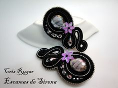 Sweet Soutache earrings via Cristina Rugar