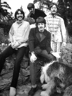 The Beatles at Sunny Heights. Ringo's place.