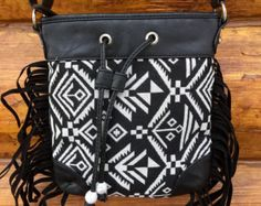 Multi color aztec duffle bag by SomethinAboutYou on Etsy