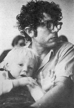 Bernie Sanders held his son during a meeting in 1971 with colleagues from The Vermont Freeman in Burlington, Vt. Credit Frank Kochman