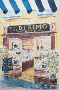 """""""Di Simo Caffe"""" by Emily Sutton (watercolour)"""