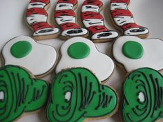 sugarlily cookie company: i do so like green eggs and ham!