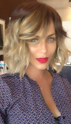 24 Ombre Hair Color Styles for Short Hair: Long Bob with Bangs Pretty /Brown Ombre Hair Color Love Hair, Great Hair, Gorgeous Hair, Awesome Hair, Medium Hair Styles, Short Hair Styles, Hair Medium, Ombre Hair Color, Ombre Bob