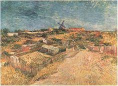 "Vincent van Gogh • ""Huertos en Montmartre: La Butte Montmartre"" •  Painting • 1887"