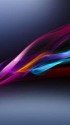 Neon Light Wave #iPhone #7  #wallpaper