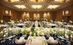 披露宴会場「クイーンズグランドボールルーム」の写真その1 Hotel Wedding, Wedding Ceremony, Wedding Decorations, Table Decorations, Rehearsal Dinners, Simple Weddings, Perfect Wedding, Wedding Flowers, Centerpieces
