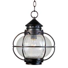 $127 - 2 for over the island??  Maxim Lighting 30506CDOI Portsmouth Outdoor Pendant, Oil Rubbed Bronze