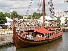 No, you weren't imagining things; that really was a Viking dragon ship you spied…