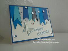 Geburtstagskarte, Schmetterling, Happy Birthday von DEPOT  Stampin' Up! - Papillon Potpourri und Stanze Schmetterling gefunden auf kreativella.wordpress.com