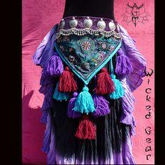 All in One ATS/ITS Tassel Belt, Tribal belly dance belt, tribal tassel belt, ATS…