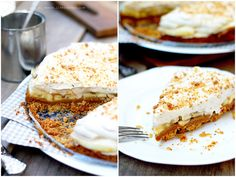 Быстрый торт - Баноффи пай (Варенная сгущенка, банан, сливки, основа-печенье)