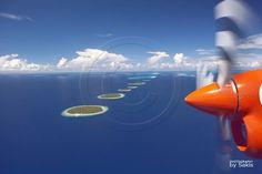 #Maldives, Island Aerial View