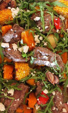 Lamb and Mediterranean salad #iqs #iqs8wp