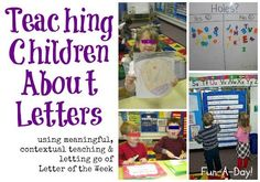 Teaching Children About Letters- no more letter of the week!