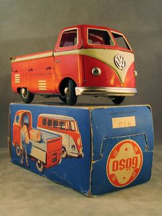 Vintage VW Camper Toy with Original Box