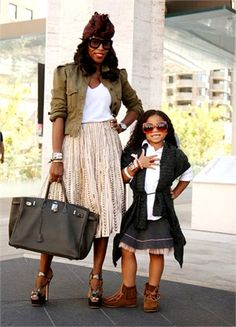 June Ambrose and daughter... So cute!