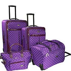Purple Continental Travel Bag Set | Luggage | HomeChoice ...