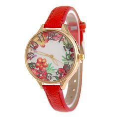 Fashion 3D Printing Flowers Women's Quartz Wristwatches Lady Dress Watches Women's Bracelet Watch Relogio Feminino Reloj Mujer