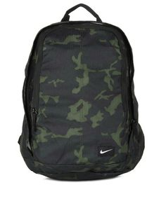 Nike Men Green & Black Camouflage Hayward Backpack | INR 2595 | Another great way to incorporate camo print into your look