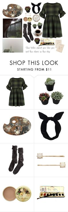 """""""rainy days are made for artists"""" by jaxii ❤ liked on Polyvore featuring Boohoo, Lulu in the Sky, Polder, LC Lauren Conrad and vintage"""