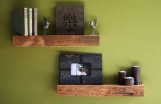 Love these reclaimed barn wood shelves! @wrenwoods