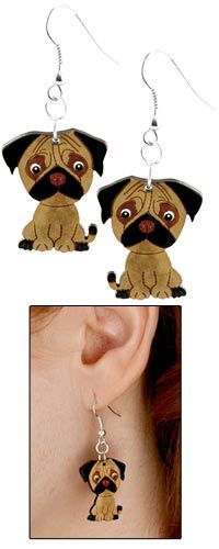 Pug Gourd Earrings at The Animal Rescue Site