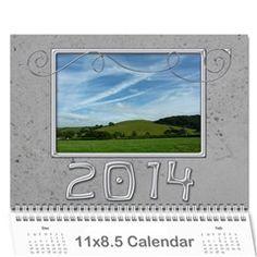 2014 Simple Silver Calendar by Catvinnat - Wall Calendar 11 x 8.5 (12-Months)