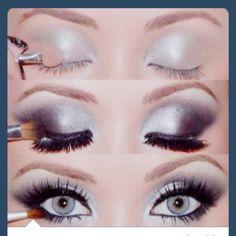 Metallic silver eyes. Perfect for Masquerade Ball