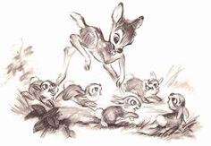 Bambi - story sketches disney in the raw, 2019 disney drawin Disney Animation, Disney Pixar, Punk Disney, Disney Facts, Disney Movies, Disney Characters, Bambi Art, Bambi And Thumper, Disney Sketches