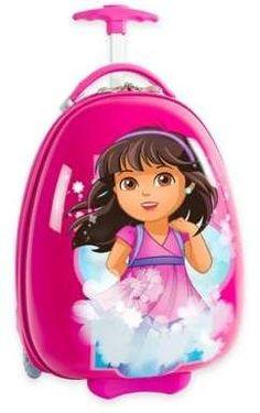 Heys Kids Luggage Dora the Explorer Carry On Hardcase Pink Girls Rolling Wheeled Dora Cartoon, Dora Games, Kids Luggage, Travel Luggage, Carry On Suitcase, Dora The Explorer, Home Activities, Wedding Gift Registry